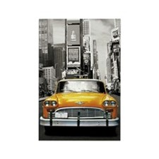 I LOVE NYC - New York Taxi Rectangle Magnet