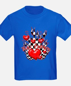 Race Fashion.com Hearts in Flames T