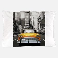 Funny Yellow cab Pillow Case