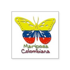 "Cute Mariposas Square Sticker 3"" x 3"""
