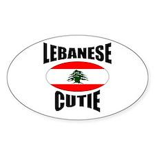 Lebanese Cutie Oval Decal