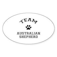 Team Australian Shepherd Sticker (Oval)