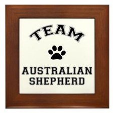 Team Australian Shepherd Framed Tile
