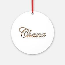 Gold Chana Round Ornament