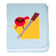 Retro Fondue baby blanket