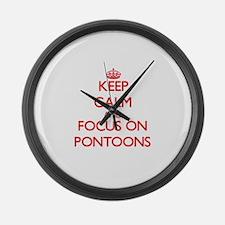 Funny Pontoon Large Wall Clock