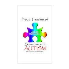 Proud Teacher Rectangle Decal
