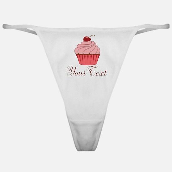 Personalizable Pink Cupcake Classic Thong