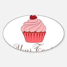 Personalizable Pink Cupcake Decal