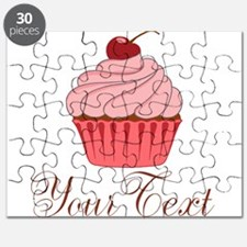 Personalizable Pink Cupcake Puzzle