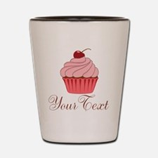 Personalizable Pink Cupcake Shot Glass