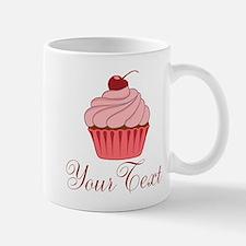 Personalizable Pink Cupcake Mugs
