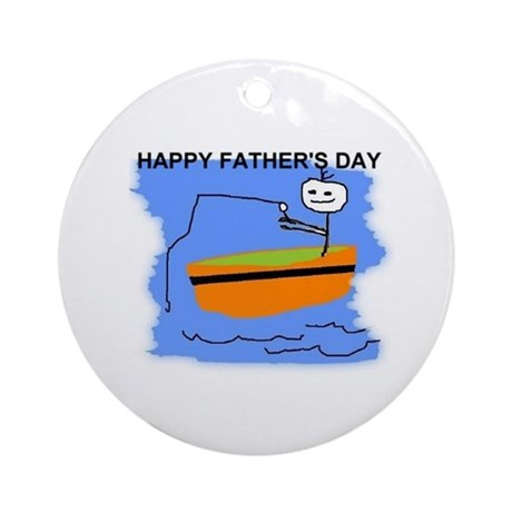 HAPPY FATHERS DAY Ornament (Round)