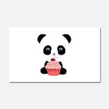 Panda Bear Cupcake Car Magnet 20 x 12
