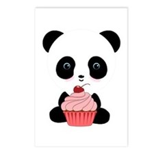 Panda Bear Cupcake Postcards (Package of 8)