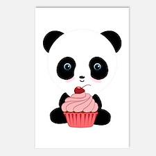Panda Bear Cupcake Postcards (Package of 8)