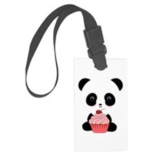Panda Bear Cupcake Luggage Tag