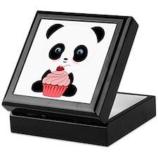 Panda Bear Cupcake Keepsake Box