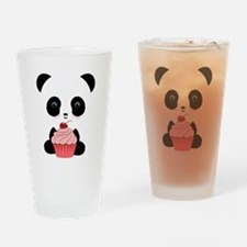Panda Bear Cupcake Drinking Glass