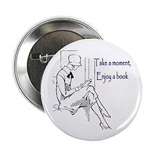 """Enjoy a book 2.25"""" Button (10 pack)"""
