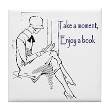 Enjoy a book Tile Coaster