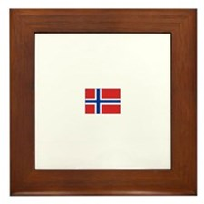 norway flag Framed Tile