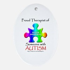 Proud Therapist Oval Ornament