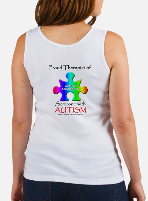 Proud Therapist (backprint) Women's Tank Top
