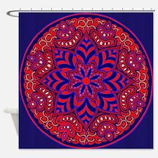 Cute Mandala red Shower Curtain