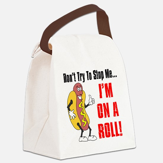 I'm On A Roll Canvas Lunch Bag