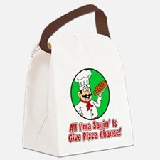 Give Pizza Chance Kids Canvas Lunch Bag