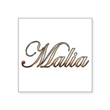"Gold Malia Square Sticker 3"" x 3"""