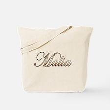 Gold Malia Tote Bag
