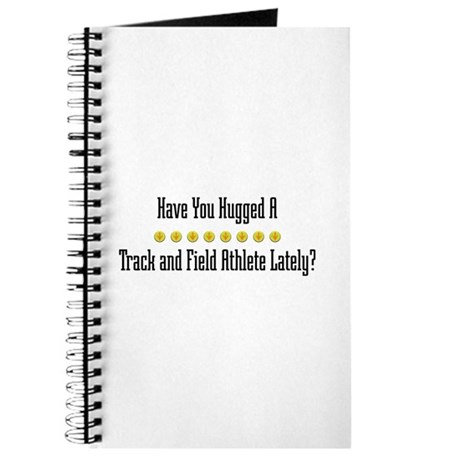 Hugged Track and Field Athlete Journal