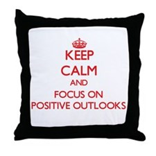Cute Positive outlook Throw Pillow