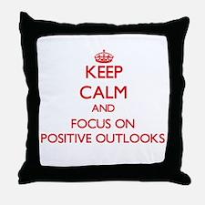 Cute Positive outlook Throw Pillow