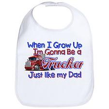 When I Grow Up Trucker Bib