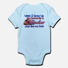 When I Grow Up Trucker Body Suit