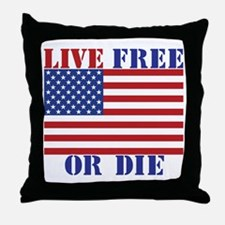 Live Free or Die Throw Pillow