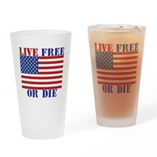 Live Free or Die Drinking Glass
