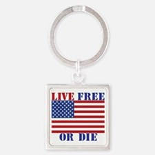 Live Free or Die Square Keychain