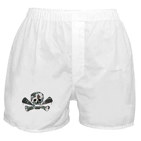 Lacrosse Skull Camo Boxer Shorts