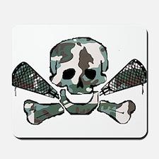 Lacrosse Skull Camo Mousepad