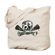 Lacrosse Skull Camo Tote Bag
