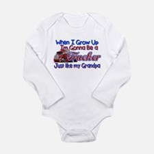 When I Grow Up... Gran Long Sleeve Infant Bodysuit