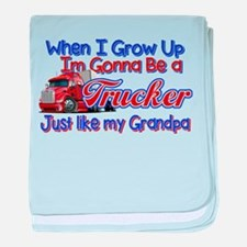 When I Grow Up... Grandpa baby blanket