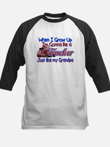 When I Grow Up... Grandpa Kids Baseball Jersey