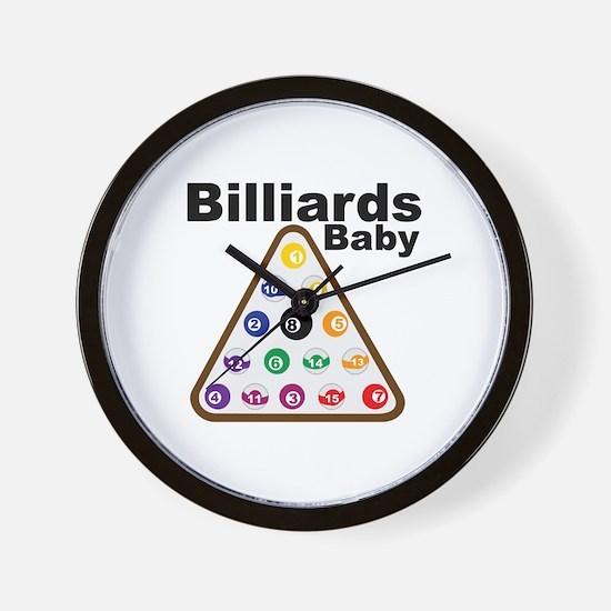 Billiards Baby Wall Clock