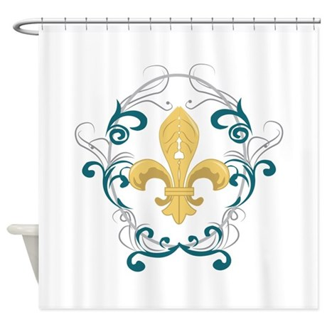 Fleur de lis shower curtain by windmill11 - Fleur de lis shower curtain hooks ...