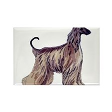 Cute Afghan hound Rectangle Magnet